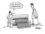 It's an old spreadsheet.' - Cartoon Premium Giclee Print by Peter Mueller