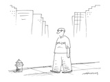 man's shirt reads, 'Off-Line' - Cartoon Premium Giclee Print by Mick Stevens