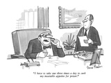 """""""I have to take one three times a day to curb my insatiable appetite for p…"""" - New Yorker Cartoon Premium Giclee Print by Dana Fradon"""