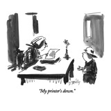 """My printer's down."" - New Yorker Cartoon Premium Giclee Print by Donald Reilly"