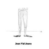 Jean Val-Jeans - Cartoon Premium Giclee Print by Victoria Roberts