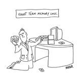 Short Term Memory Loss. - Cartoon Premium Giclee Print by Peter Mueller