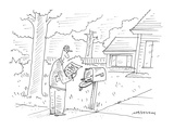 man receives letter which says, 'You've got snail mail!' - Cartoon Premium Giclee Print by Mick Stevens