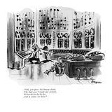 """Oh, you press the button down. The data goes 'round and around, Whoa-ho-h…"" - New Yorker Cartoon Premium Giclee Print by Lee Lorenz"
