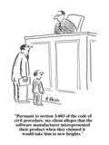 """""""Pursuant to section 3-603 of the code of civil procedure, my client alleg…"""" - Cartoon Premium Giclee Print by Aaron Bacall"""