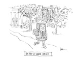 The Not-So-Dumb Brick - Cartoon Premium Giclee Print by Mary Lawton