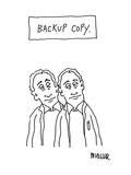 Backup Copy - Cartoon Premium Giclee Print by Peter Mueller