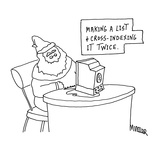 Making A List and Cross-Indexing It Twice. - Cartoon Premium Giclee Print by Peter Mueller