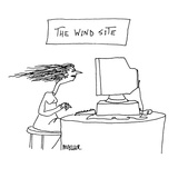 The Wind Site - Cartoon Premium Giclee Print by Peter Mueller