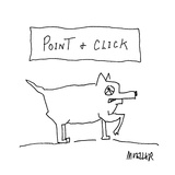 Point &amp; Click - Cartoon Premium Giclee Print by Peter Mueller