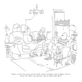 """Harry wasn't born great and he hasn't achieved greatness, but he figures …"" - New Yorker Cartoon Premium Giclee Print by George Price"