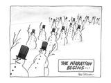 The migration begins . . . - Cartoon Premium Giclee Print by Leo Cullum