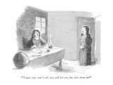 """"""" 'Cogito, ergo sum'is all very well for you, but what about me?"""" - New Yorker Cartoon Premium Giclee Print by James Stevenson"""