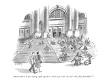 """Remember? I was sitting right up there when you came by and said, 'Hi, be… - New Yorker Cartoon Premium Giclee Print by Barney Tobey"