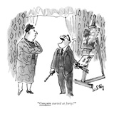 """Gauguin started at forty!"" - New Yorker Cartoon Premium Giclee Print by William Steig"