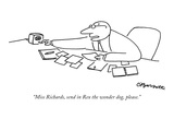 """Miss Richards, send in Rex the wonder dog, please."" - New Yorker Cartoon Premium Giclee Print by Charles Barsotti"