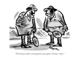 """I'll tell you what's missing from your game, Cowley—hate."" - New Yorker Cartoon Premium Giclee Print by Lee Lorenz"