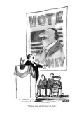 """""""Mama, come up here and say hello."""" - New Yorker Cartoon Premium Giclee Print by Robert Weber"""