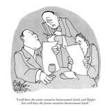 """I will have the senior-executive businessman's lunch, and Hooper here wil…"" - New Yorker Cartoon Premium Giclee Print by Gahan Wilson"