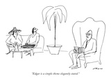"""Edgar is a simple theme elegantly stated."" - New Yorker Cartoon Premium Giclee Print by Al Ross"
