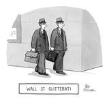 Wall St. Glitterati. - New Yorker Cartoon Premium Giclee Print by Leo Cullum