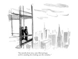 """Six months from now, some Harvard guy will be standing here looking out t…"" - New Yorker Cartoon Premium Giclee Print by James Stevenson"