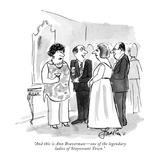 """And this is Ann Braverman—one of the legendary ladies of Stuyvesant Town."" - New Yorker Cartoon Premium Giclee Print by Edward Frascino"