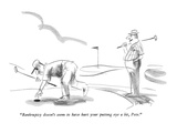 """Bankruptcy doesn't seem to have hurt your putting eye a bit, Pete."" - New Yorker Cartoon Premium Giclee Print by Donald Reilly"