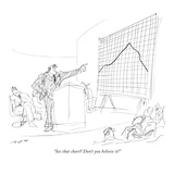 """See that chart? Don't you believe it!"" - New Yorker Cartoon Premium Giclee Print by Al Ross"