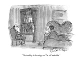 """Election Day is dawning, and I'm still undecided."" - New Yorker Cartoon Premium Giclee Print by Edward Frascino"