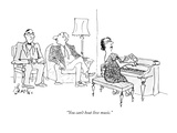 """You can't beat live music."" - New Yorker Cartoon Premium Giclee Print by Edward Frascino"