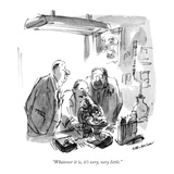 """Whatever it is, it's very, very little."" - New Yorker Cartoon Premium Giclee Print by James Stevenson"