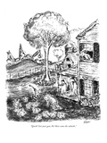 """Quick! Get your gun, Pa! Here come the suburbs."" - New Yorker Cartoon Premium Giclee Print by Edward Koren"