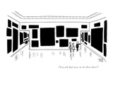 """""""You will find more on the floor above."""" - New Yorker Cartoon Premium Giclee Print by Robert J. Day"""