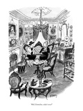 """""""Well, Emmeline, what's new?"""" - New Yorker Cartoon Premium Giclee Print by Barney Tobey"""