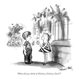 """What did you think of 'Hickory, Dickory, Dock'?"" - New Yorker Cartoon Premium Giclee Print by Donald Reilly"