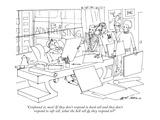 """Confound it, men! If they don't respond to hard sell and they don't respo…"" - New Yorker Cartoon Premium Giclee Print by Ed Arno"