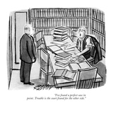 """""""I've found a perfect case in point. Trouble is the court found for the ot…"""" - New Yorker Cartoon Premium Giclee Print by Mischa Richter"""