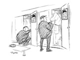 One umpire with a picture of Roger Maris in his locker and another has a p… - New Yorker Cartoon Premium Giclee Print by Al Ross