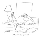 """Maybe I should get a pants suit."" - New Yorker Cartoon Premium Giclee Print by Frank Modell"