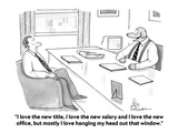 """""""I love the new title, I love the new salary and I love the new office, bu…"""" - Cartoon Premium Giclee Print by Leo Cullum"""