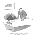"""""""Of course it's not my son. My son is a nitwit. That's me, thirty years ag…"""" - New Yorker Cartoon Premium Giclee Print by J.B. Handelsman"""