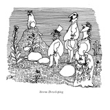 Storm Developing' - New Yorker Cartoon Premium Giclee Print by William Steig