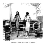 """Something is stifling me—I think it's Mencken."" - New Yorker Cartoon Premium Giclee Print by  Krakusin"