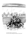"""""""It started when one of them said that all the Miss Rheingold candidates l…"""" - New Yorker Cartoon Premium Giclee Print by Robert J. Day"""