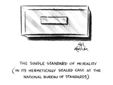 The Single Standard of Morality. - New Yorker Cartoon Premium Giclee Print by Ed Fisher
