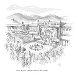 """Let's skip the epilogue and beat the crowd."" - New Yorker Cartoon Premium Giclee Print by Everett Opie"
