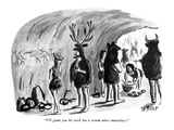 """I'll grant you his work has a certain naïve immediacy."" - New Yorker Cartoon Premium Giclee Print by Warren Miller"