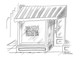 The Little Itty-Bitty Bookstore Around The Corner.com - Cartoon Premium Giclee Print by Mick Stevens