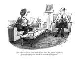 """""""For what it's worth, next week all your stars and planets will be in good…"""" - New Yorker Cartoon Premium Giclee Print by Dana Fradon"""